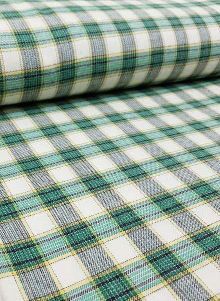 bright green checks - flanel