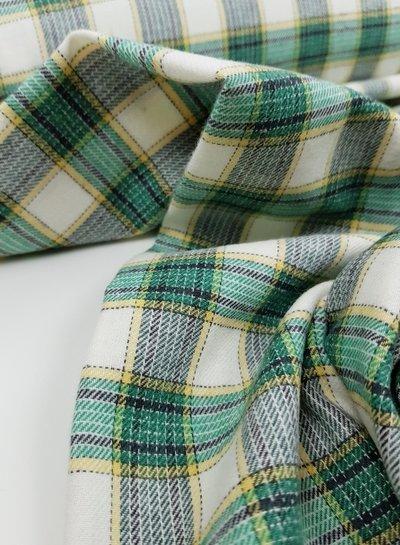 bright green checks - flanel