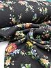 kleine bloemen zwart denim - happy fleece