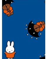 miffy blue - coated cotton