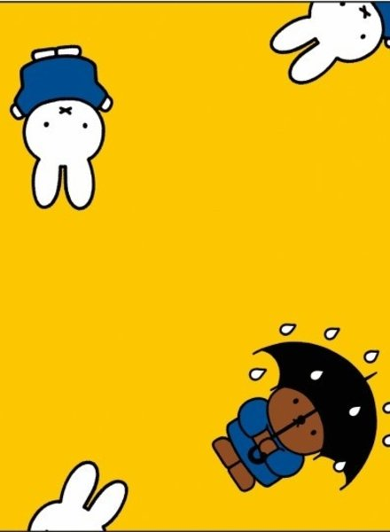 miffy yellow - coated cotton