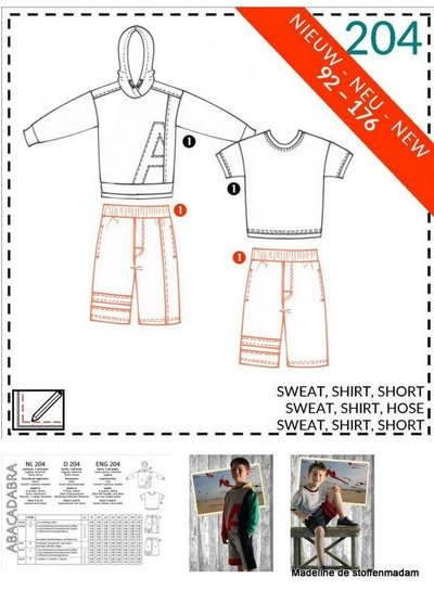abacadabra - 204 - sweat, shirt, short