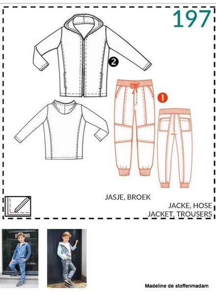 abacadabra -197- jacket, trousers