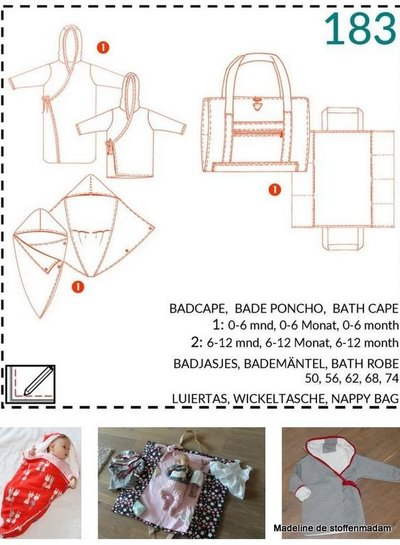 abacadabra - 183 - badcape, badjas, luiertas