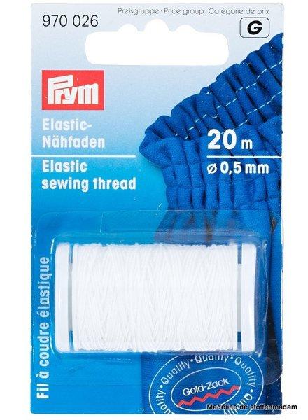 Prym elastisch garen wit 20 meter