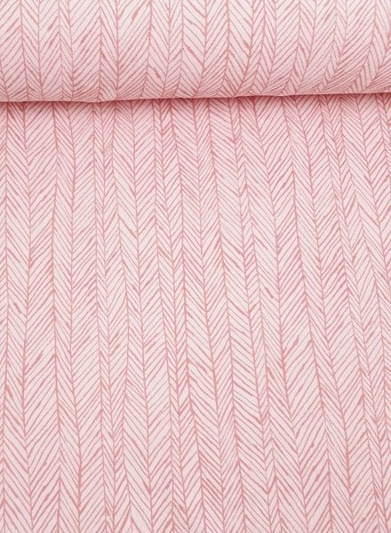 herringbone pink  - terry