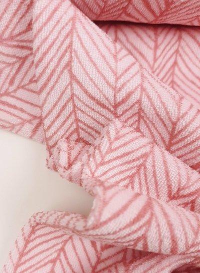 visgraat roze - spons