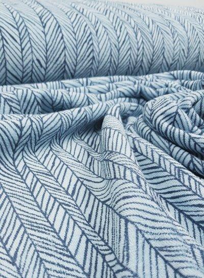 visgraat blauw - spons