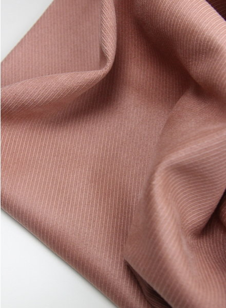 diagonal striped dusty pink - suede scuba