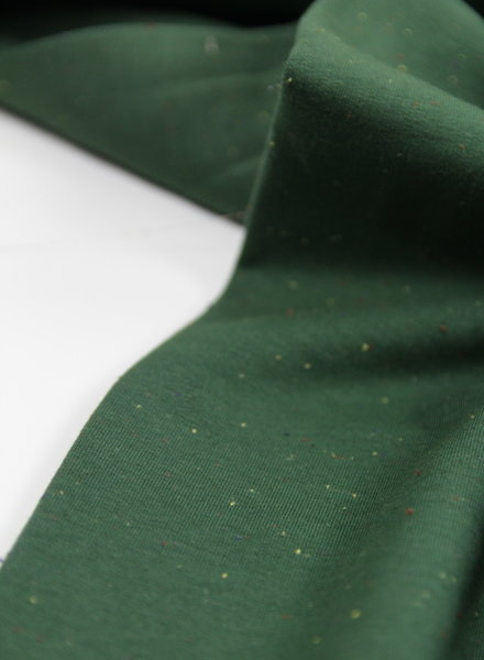 sweat fabric  - speckled green