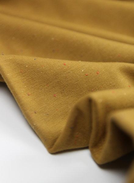 sweat fabric  - speckled mutard