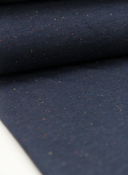 sweat fabric  - speckled melee navy