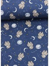 sleepy bear blue - jersey