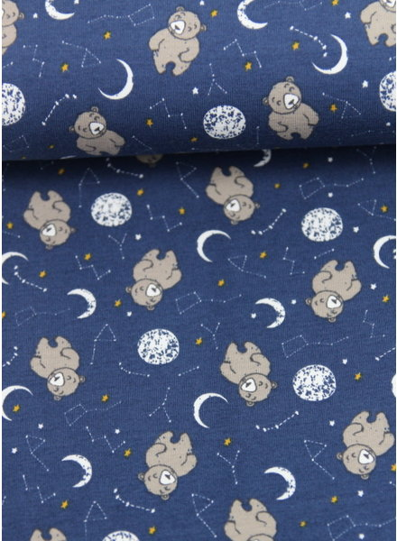 sleepy bear blauw - tricot