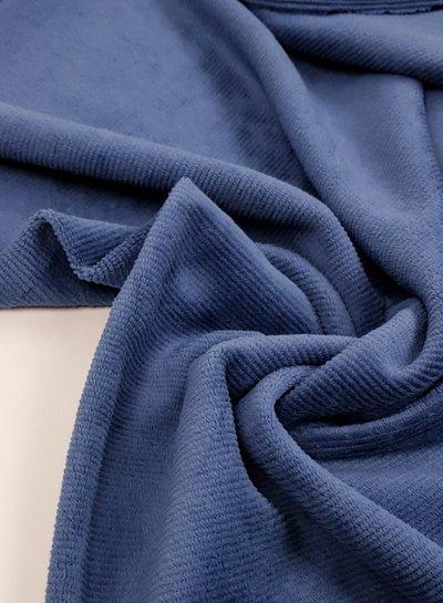 denimblauw - dunne ribbel rekbare corduroy