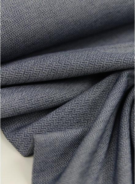 navy chevron - textured knit