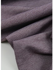 aubergine chevron - textured knit