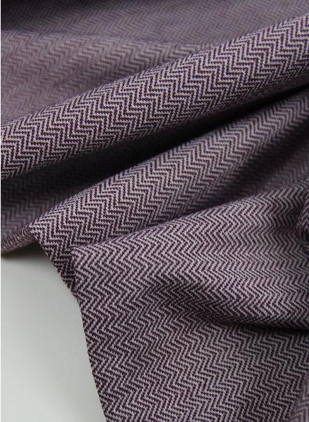 aubergine chevron - structuur tricot