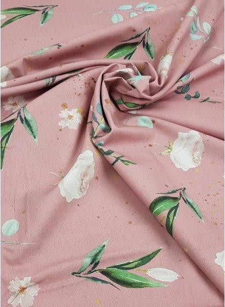 Kim's flowers roze - katoen