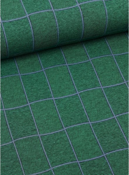 green squares - textured jersey