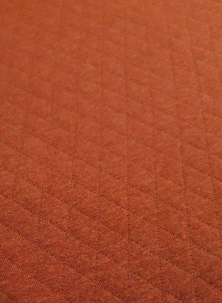 roest - doorstikte sweater melange