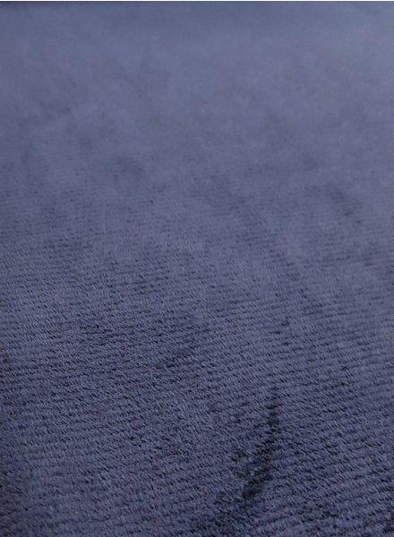 marineblauw - dunne ribbel rekbare corduroy