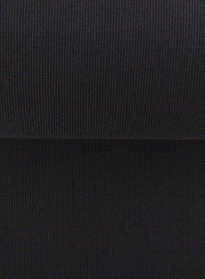 zwarte ribbel boordstof