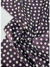 blue/ white dots - rain coat fabric