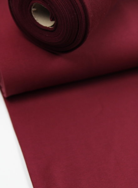 burgundy -solid french terry OEKO TEX