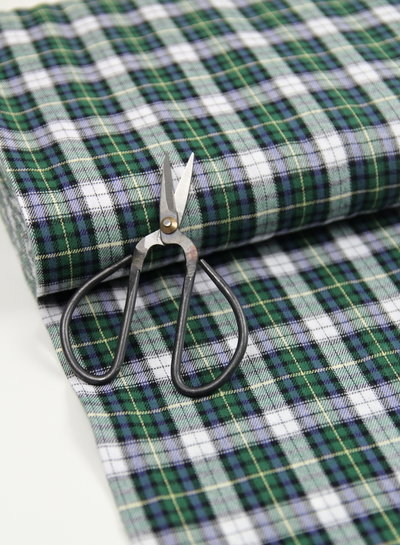 green and blue checks - flanel