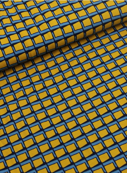 retro squares - jersey