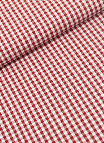 Vichy squares red - cotton