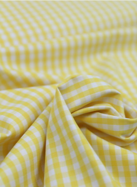 Vichy squares yellow - cotton