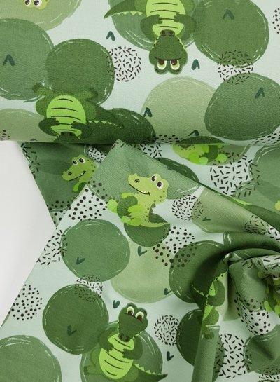 groen draakje - french terry
