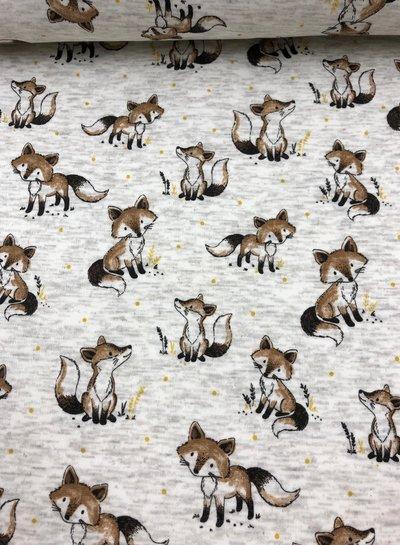 foxes cream - happy fleece