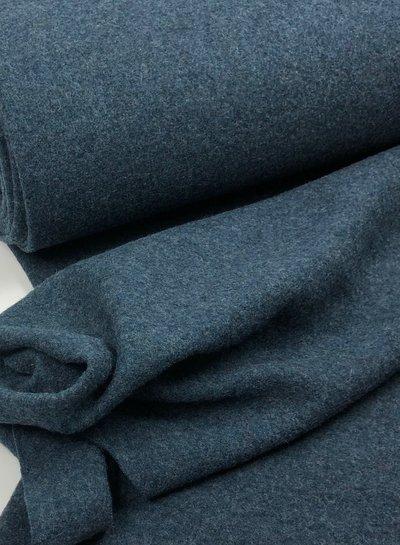 boiled wool - bouclé - petrol blue