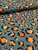 khaki leopard print - polyester fabric