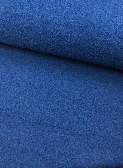 boiled wool - bouclé - cobalt blue