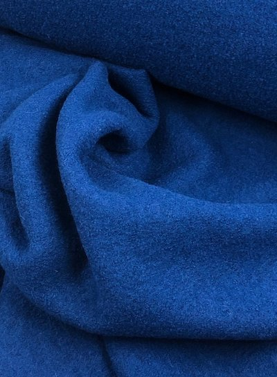 gekookte wol - wolvilt - boucle kobaltblauw