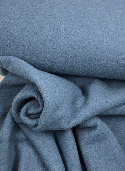 boiled wool - bouclé - ice blue