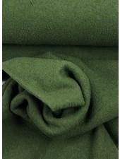 boiled wool - bouclé - grass green