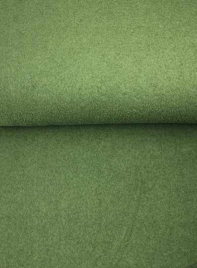 boiled wool - bouclé - grass green