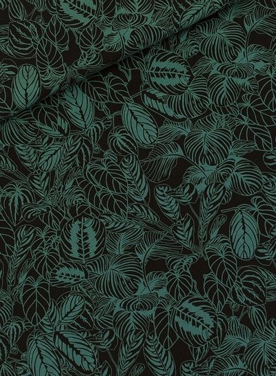 See You at Six viscose rayon Cosy House Plants - Black