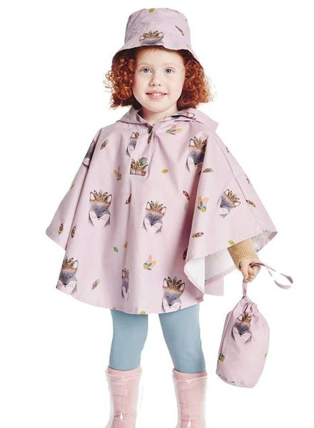 katia Waterproof cape with hat and bag