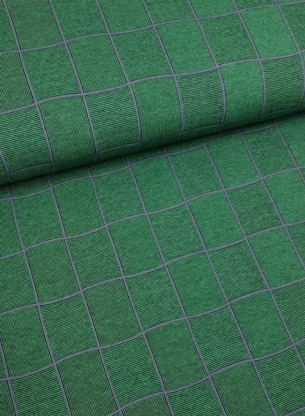 green squares - textured knit