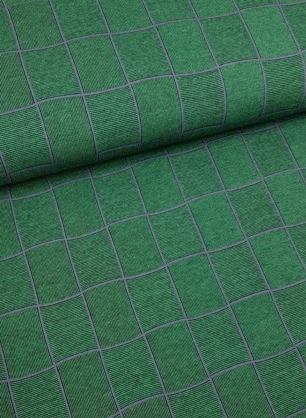 groen ruitjes - structuur tricot