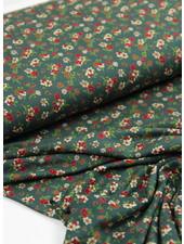 flowergarden groen - viscose tricot