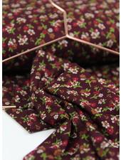 flowergarden burgundy - viscose jersey
