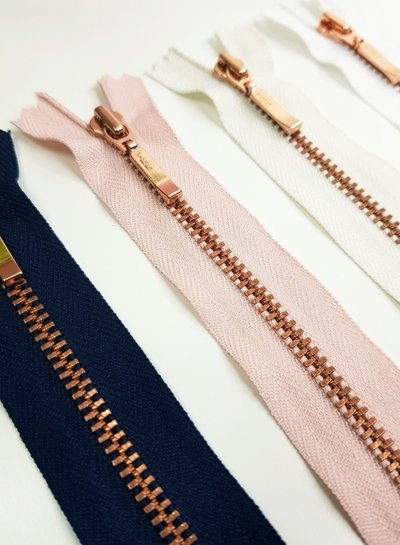 YKK rose / pink - non divisible zipper