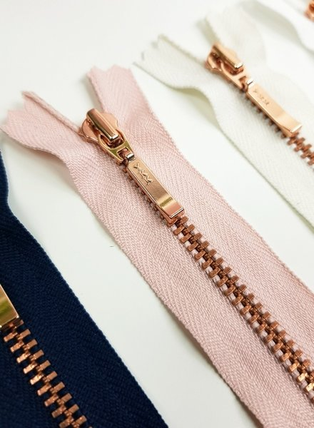 YKK rose / pink - non divisible zipper